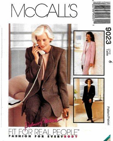 McCall's Sewing Pattern 9023 M9023 Misses Size 14 Suit Jacket Top Pants