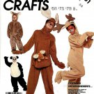 McCall's Sewing Pattern 3351 M3351 P988 Child Size 2-4 Panda Bear Kanagroo Reindeer Koala Costume