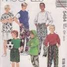 McCall's Sewing Pattern 5484 M5484 Boys Size 7-10 Knit Tops Hoodie Pants Shorts