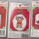 NEW 6 Counted Cross Stitch CCS Designs Christmas Tree Ornament Kits With Frames