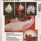 McCall's Sewing Pattern 7226 Christmas Crafts Touch of Lace Ornaments Tree Skirt Wreath