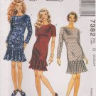 McCall's Sewing Pattern M7382 7382 Misses Sizes 20-24 Dropped Waist Dress