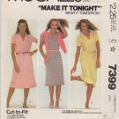 McCalls Sewing Pattern M7399 7399 Misses Sizes 8-12 Pullover Polo Neck Dress