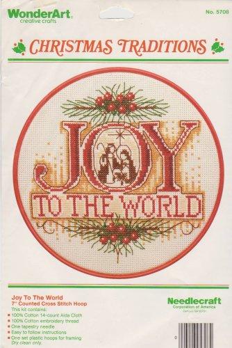 Joy to the World Counted Cross Stitch Kit Wonder Art 5708