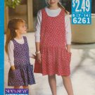 Butterick Sewing Pattern 6261 B6261 Girls Sizes 7-14 Easy Jumper Pullover Long Sleeve Top