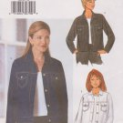 Butterick Sewing Pattern B6376 6376 Misses Size 12-16 Easy Button Front Denim Blue Jean Jacket