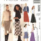 McCall's Sewing Pattern M3296 3296 Misses Size 12-18 Bias Skirts Straight Fishtail Back