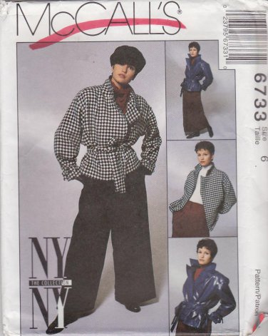 McCall�s Sewing Pattern M6733 6733 Misses Size 6 NYNY Jacket Pants Skirt