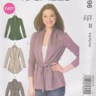 McCall's Sewing Pattern M6996 6996 Misses Size 16-26 Easy Knit Long Sleeve Jacket Belt