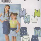 Simplicity Sewing Pattern 7191 Girls Size 7-14 Skirts Sleeveless Top Options