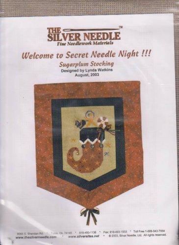 The Silver Needle Sugarplum Stocking Lynda Watkins Counted Cross Stitch Embroidery Kit