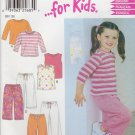 New Look Sewing Patterns 6170 Girls Sizes 2-7 Easy Knit Wardrobe Tops Pants