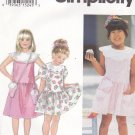 Simplicity Sewing Pattern 8938 Girls Sizes 2-4 Dress Bags Cupcake Ice Cream Cone