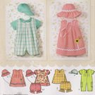 Simplicity Sewing Pattern 4243 Babies Size XXS-L Easy Romper Dress Top Panties Hats in Three Sizes