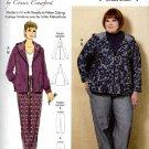 Butterick Sewing Pattern 6533 B6533 Womens Plus Size 18W-44W Hooded Jacket Pants