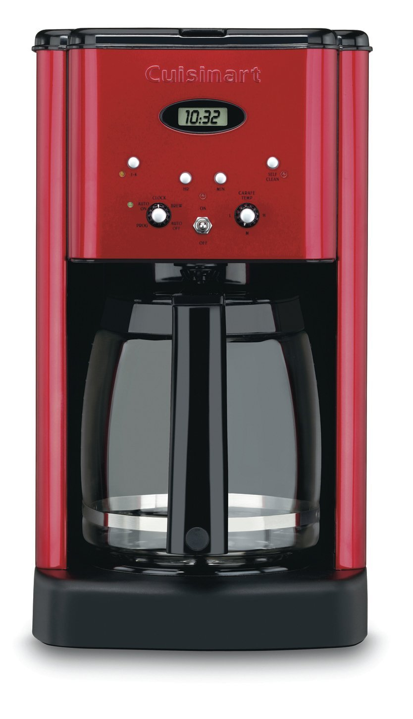 Cuisinart Coffee Maker Cleaning Instructions Dcc 1200 : Cuisinart DCC-1200MR Brew Central 12-Cup Programmable Coffeemaker, Metallic Red