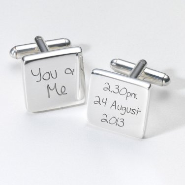 YOU & ME ENGRAVED CUFFLINK IN PREMIUM BOX