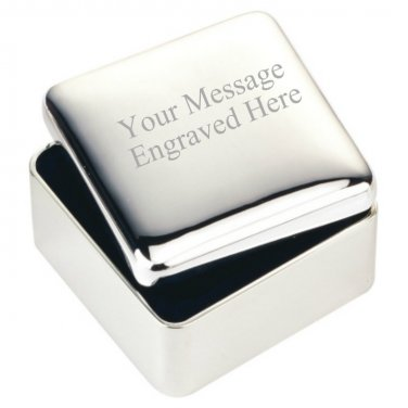 Engraved Square Jewellery Box