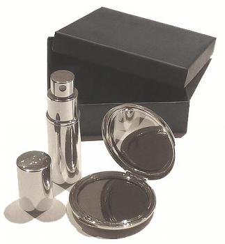 PERSONALISED ATOMISER AND MIRROR GIFT SET