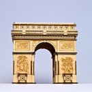 DIY 3D Solar LED light Puzzle Wooden Wood Toys Educational Assemble Toys Triumphal Arch