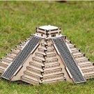 DIY 3D Solar Wooden Puzzle Pyramid of Maya Mayan Pyramids Toy Model