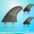 Black Color Surfboards Fiberglass FCS Base Surfboard Fins G5 SIZE 3 PCS SETS