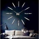New Large Modern Art Design Big Size DIY 3D Mirror Wall Clock Luxury Home Decor