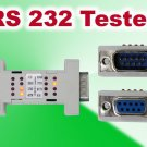Test Serial Port Cable RS232 RS 232 Loopback Loop Back Plug Tester LED Adaptor