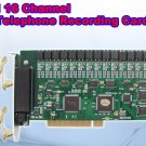 16 lines PCI Telephone Phone Voice Call Centre Logger Recorder Recording Card