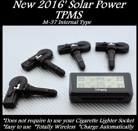 TPMS SOLAR POWER TIRE PRESSURE MONITOR 4 SENSORS FITS VOLVO SMART SEAT