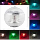 Lake Waterproof Solar Floating Rotat 7 Color Changing LED Light Lamp Ball