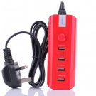 4 Multi Port Rapid USB Wall Travel Charger Auto Detect Technology Universal