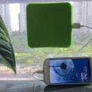 Solar Charger Square Window Sticker 5V 1300mA Designer USB Phone Tablet Charger