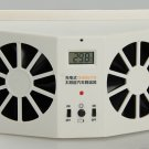 Ivory Solar Powered Car Front Rear window Air Vent Ventilation Cool Cooler Fan