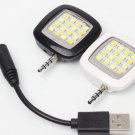 Phone External Extra Fill in light 16pcs LED Flash Lamp Video Flashing for iphone 6