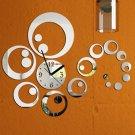 Fashion Wall Sticker Modern Removable DIY 3D Mirror Clock Home Decoration