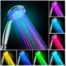 1 Pcs 7 Colors LED Lights Shower Head Automatic Solid Color Accessories