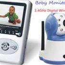 2.4GHz Wireless Digital Baby Monitor Camera with IR/ LCD Video DVR Two Way Speak