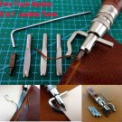 5 in 1 DIY Leathercraft Adjustable Pro Stitching Groover Crease Leather Tools