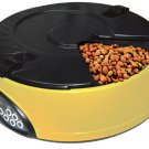Automatic Pet ABS 6 Meals Feeder Programmable Timer Cat Bowls Display Digital