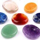 7 pcs Chakra Palm Stone Crystal Reiki Healing Aventurine Smoky Quartz Carnelian
