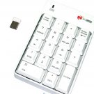 White 2.4GHz Wireless USB Numeric Keypad Numpad Number 18 keys Pad Laptop PC
