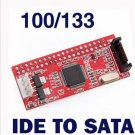 Desktop Computer PC IDE TO SATA 100 133 HDD CD DVD Converter Adapter Cable