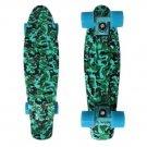 Mini 22'' Style Retro Skateboard Penny Skate Board Complete Graphic Plastic Deck