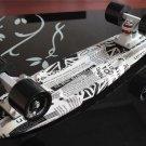 Black White Newspaper Style 22'' Retro Skateboard Penny Skate Board Complete Graphic Plastic Deck