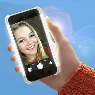 New Selfie Flash Case with LED Light for iPhone 6 6S Flashing Bright Photo Case