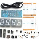 DIY 4 Digit LED Electronic Clock Kit Temperature Light Control Version Display