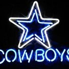 17 x14 inch DALLAS COWBOYS NFL FOOTBALL REAL GLASS BEER BAR PUB NEON LIGHT SIGN
