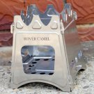 Outdoor Camping Cooking Picnic Stainless Steel Compact Folding Cook Wood Stove