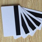 100 pcs Blank White PVC CR80 Hico 1-3 magnetic stripe Plastic Credit Card 30Mil